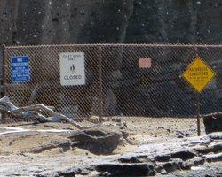 Barricades Prevent Access to the Toilet Bowl at Hanauma Bay Hawaii