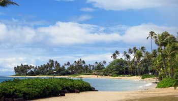 Kahala Beach on South Shore Oahu