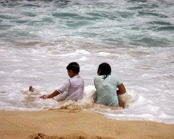 South Shore Oahu White Plains Beach Shore Break.