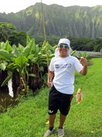 Midas Cichlid Caught at Hoomaluhia While Fishing in Hawaii