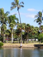 Fishing in Hawaii at Ala Moana Beach Park