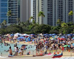 Memorial Day at Ala Moana Beach Park