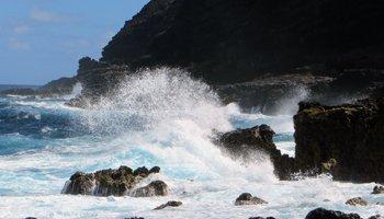 Dangerous Coastal Waters Below Makapuu Lighthouse