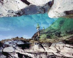 Reflection of Makapuu Lighthouse in Tide Pool Below (it's upside-down for effect)