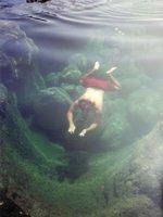 Me Swimming in Tide Pool Below Makapuu Lighthouse