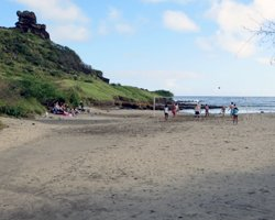 Secluded Beach Beneath Pele's Chair