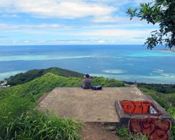 Unobstructed View of Kaneohe Bay from 2nd Bunker on Puu Maelieli Trail