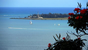 View of Marine Corps Base Hawaii Kaneohe Bay from Friendship Garden Trail