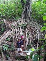 Kids (ages 4 & 6) on Friendship Garden Trail