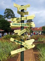 Directional Sign at Dole Pineapple Plantation