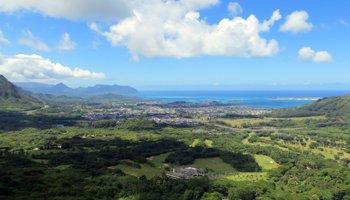 View of Windward Oahu from Nuuanu Pali Lookout