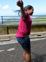Strong Winds at Nuuanu Pali Lookout