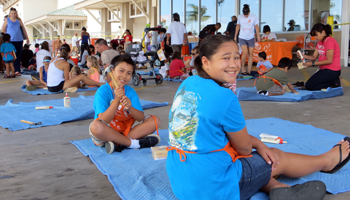 Saturday Home Depot Kids Workshop Crowd