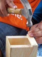 Home Depot Kids Workshop Hammering