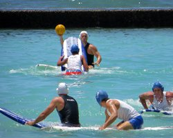 Surfboard Water Polo at Duke's Oceanfest