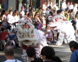 Chinese New Year Lion Dance in Chinatown Honolulu