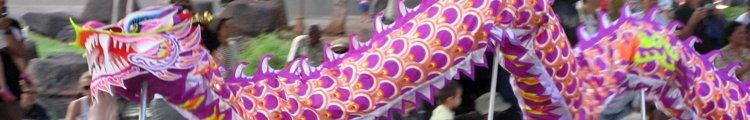 Chinese New Year Dragon Dance in Chinatown Honolulu