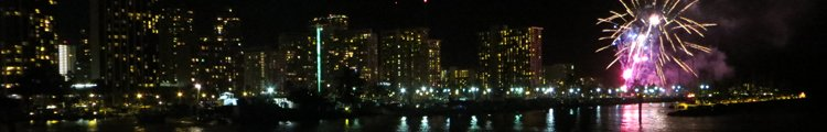 Waikiki Fireworks at Magic Island