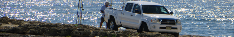 Fishing in Hawaii at Laie Point