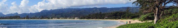 Windward Oahu Scenic Drive: Coastline Seen from Malaekahana Beach