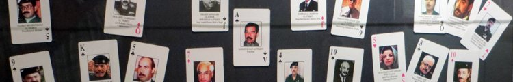 Most Wanted Target Playing Cards on Display at Tropic Lightning Museum